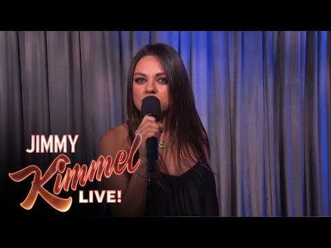 Mila Kunis Against Men Saying we Are Pregnant video