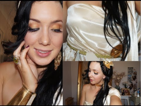 Grecian Goddess TRANSFORMATION- Smiffys costume review- Makeup & Hair tutori