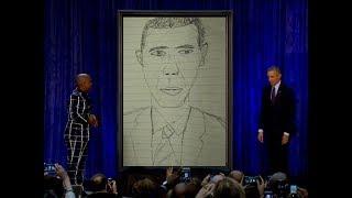 Obama's new portrait unveiled