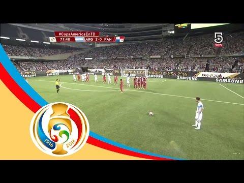Gol de Lionel Messi   Argentina 3 - 0 Panamá   Televisa Deportes