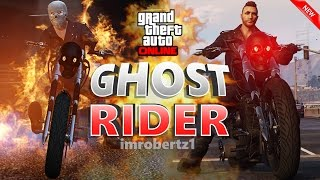 GTA 5 BEST GHOST RIDER OUTFIT TUTORIAL! FLAMING EYES TRICK! COOL NEW CLOTHING (GTA 5 ONLINE)