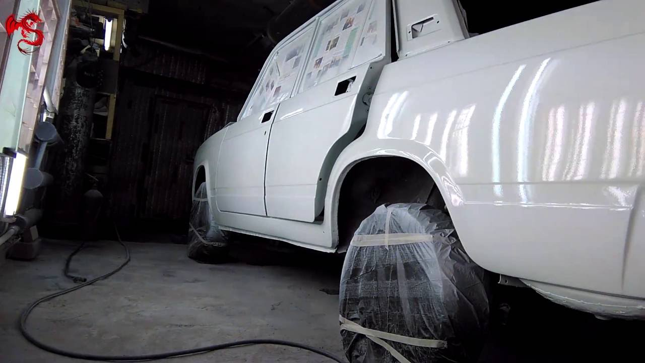 Покраска авто  ваз 2107 видео 63