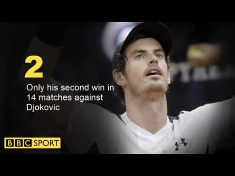 Andy Murray beats Novak Djokovic to win first Italian Open title.
