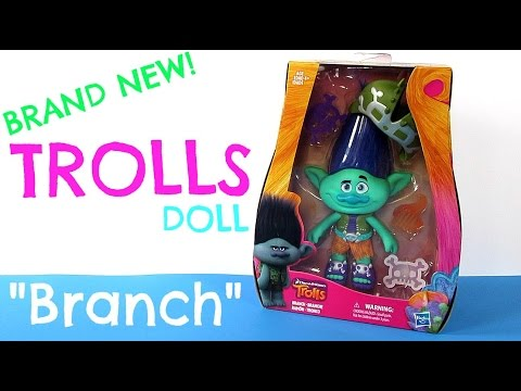NEW! DREAMWORKS TROLLS - TROLL DOLL - BRANCH - TOY REVIEW