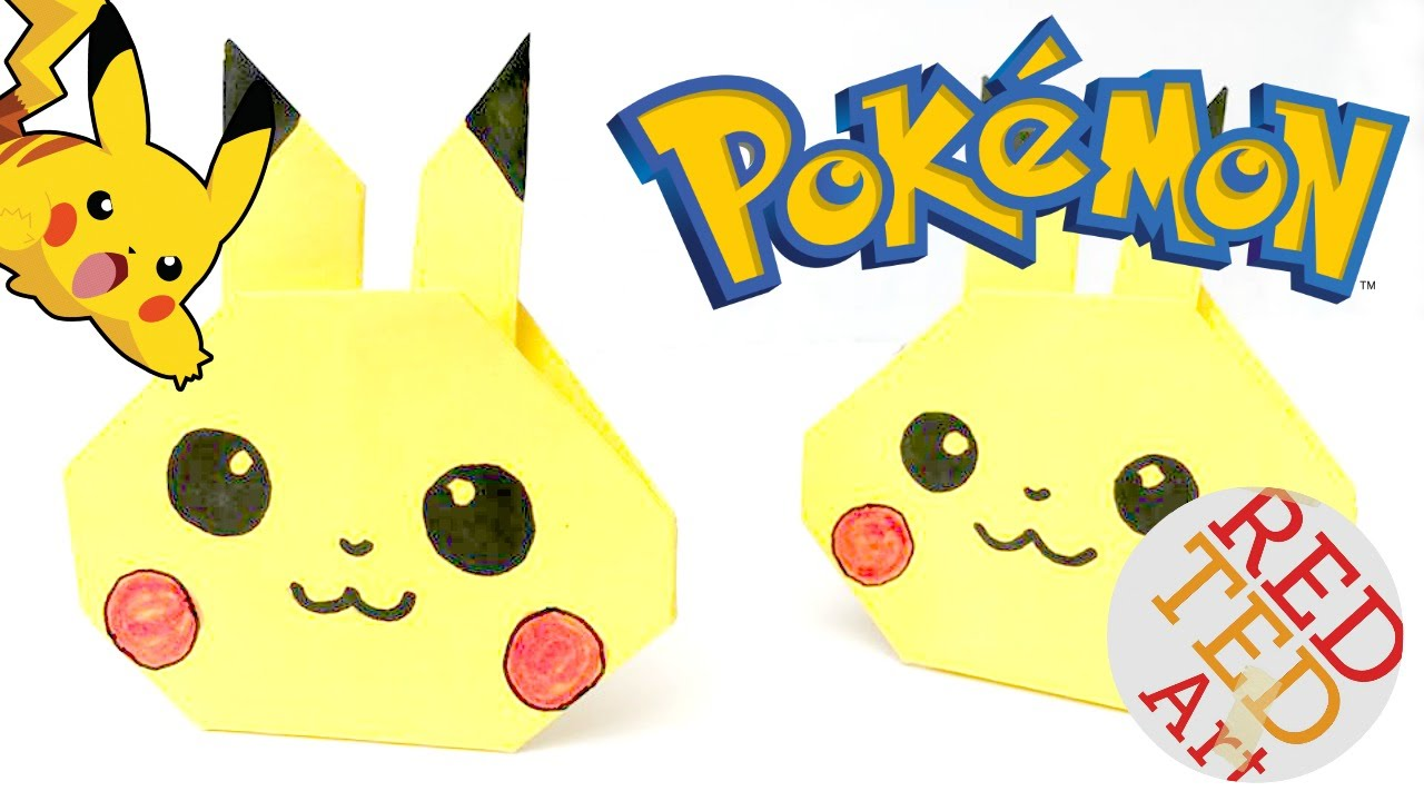 Origami Pikachu Tutorial  Cute Origami Pokemon!  Paper