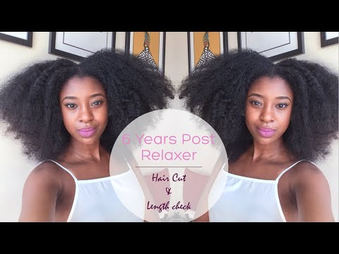 6 Years Post Relaxer Length Check How I Reshape Cut