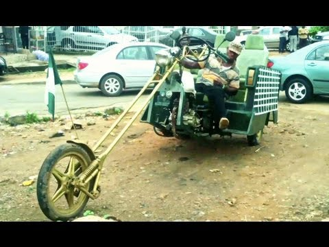 Crazy! Nigeria's Home-made Limousine & Hummer-jeep! video