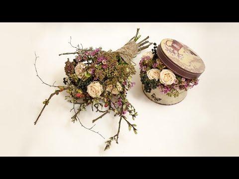 Флористика. Обучение Просто и со вкусом Flower bouquet. Flowers box. Floral