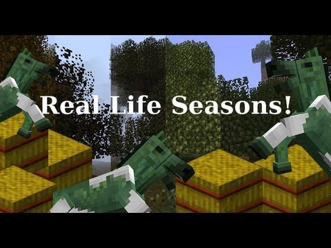 MineCraft 1.6 Snapshot 13w17a Seasons, Hay Crops, AxisGameFactory Forge Pro!