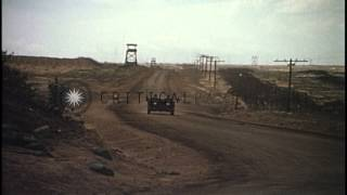 Security checks and guarding of ammunition supply depot US Army  in Long Binh, Vi...HD Stock Footage