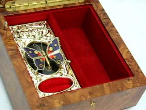 Moving Butterfly Jewelry Box Video
