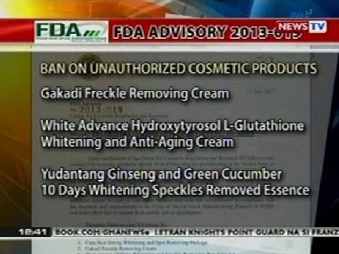 BT: FDA ban on unauthorized cosmetic products 2013