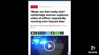 Woman captures video of police officer repeatedly running over injured deer!!