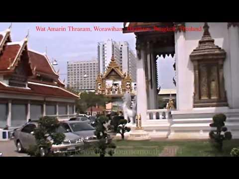Thonburi side of the Chao Phraya river, Wat Amarin Thraram Worawihan, Bangkok, Thailand. ( 10 )