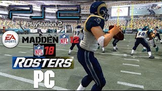 PS2 Madden NFL 12 w/ NFL 18 Rosters PC 60fps 1440p 16:9 (PS2 PCSX2 emu)