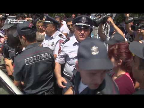 Hostages Released, As Armenian Police Pounce On Opposition Supporters