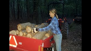 #264 FIREWOOD PRODUCTION is UP! She's a WORKER!