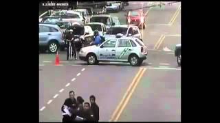 Accidente de tránsito en Av. Libertador y Pacheco - Ferrari 456 choca VW gol gris | Autocosmos