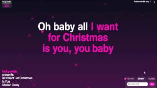 Mariah Carey-All I want for Christmas is you (Karaoke)
