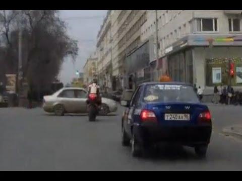 Motorbike Crashes into Car