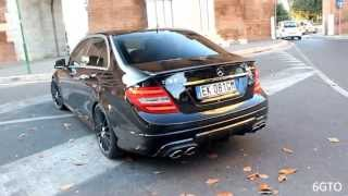 Mercedes C63 AMG - LOUD acceleration & downshift