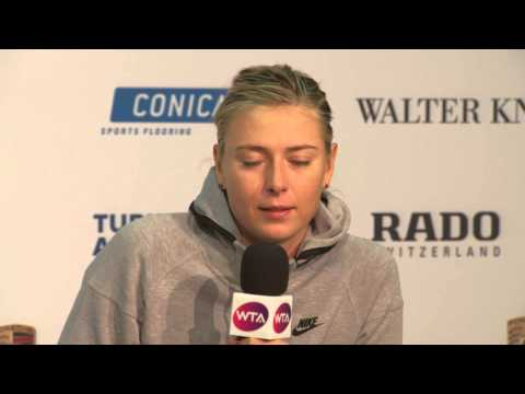 Interview Maria Sharapova (RUS) - Porsche Tennis Grand Prix 2015