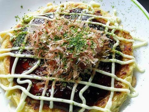 Video receta: Como preparar okonomiyaki o pizza japonesa / How to Make Okonomiyaki
