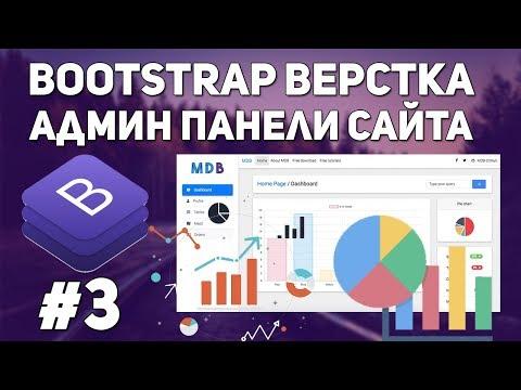 Bootstrap верстка админ панели сайта - адаптивные графики