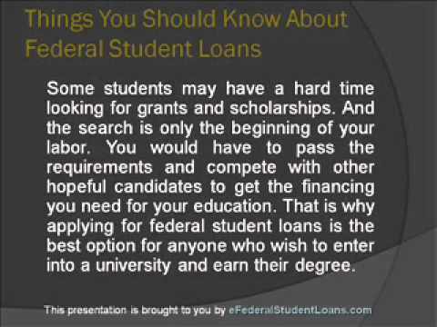What you need to know about federal student loans