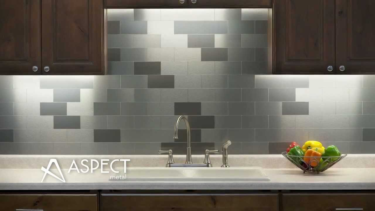 Stainless steel tiles for backsplash