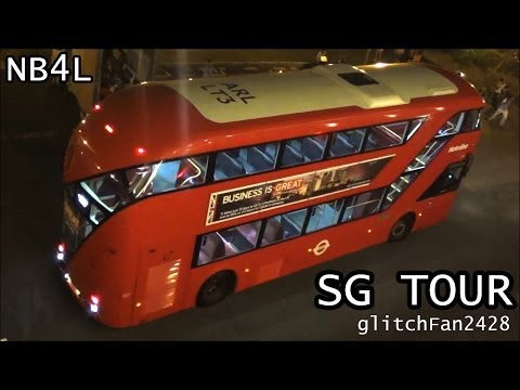 New Bus For London Touring Around Singapore