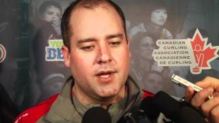 2012 Tim Hortons Brier Page Playoff 3 vs 4 Media Scrum