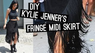 DIY: Kylie Jenner's Fringe Midi Skirt (STYLEWIRE)   Hollywire