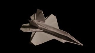 F-22 Raptor Paper Airplane