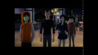 Teen Titans playing different games at the Carnival - Justice League vs Teen Titans