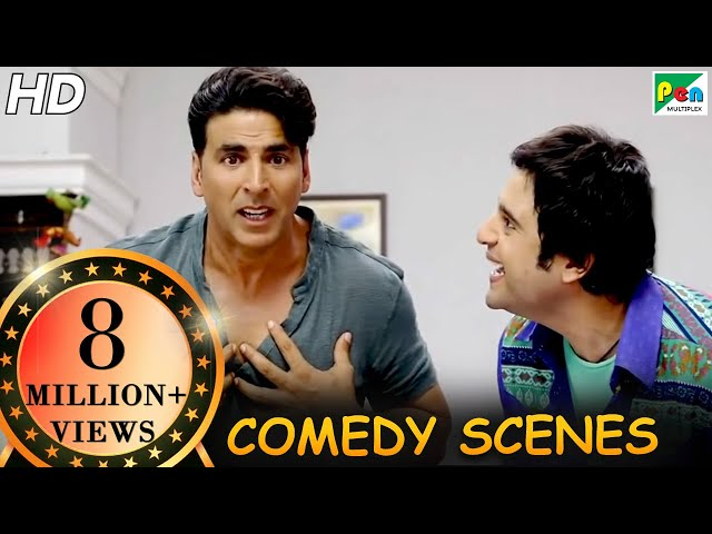 Akshay Kumar Comedy Scenes  Back To Back Comedy  Entertainment  Tamannaah Bhatia, Johnny LeverHD