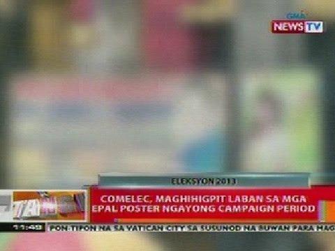 BT: COMELEC, maghihigpit vs mga epal poster ngayong campaign period