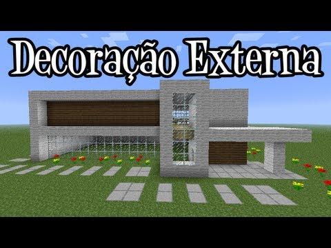 Tutoriais Minecraft: Decoração Externa da Mansão Moderna 2