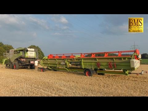 Umzug der Giganten - Mähdrescher John Deere 685i und Claas Lexion 780 Combine harvester Gigantic