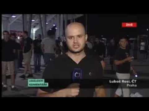 Red Star Belgrade fans in Prague, Czech Republic (Czech TV News)
