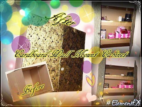 Cardboard Wall Mounted Cabinets D.I.Y