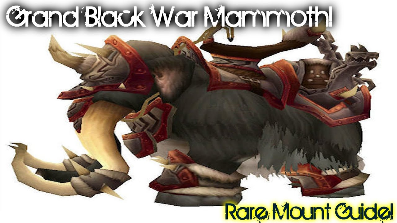 Grand Black War Mammoth - Spell - World of Warcraft