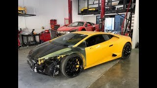 REBUILDING A WRECKED LAMBORGHINI HURACAN FROM COPART PART 4 **GIVEAWAY***