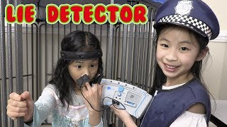 Pretend Play Police LOCKED UP Kaycee in Jail Playhouse - LIE DETECTOR Go Crazy
