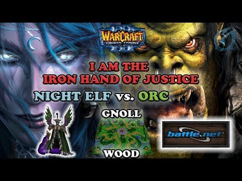 Grubby | Warcraft 3 The Frozen Throne on Battle.net | NE v Orc - Warden Game - Gnoll Wood