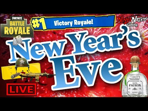 NEW YEARS EVE 2018 - LAST STREAM OF 2017 FORTNITE & RESOLOUTIONS | FortNite Battle Royale