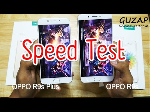 Speed Test OPPO R9s VS OPPO R9s Plus [ Game / Wifi / App / Body / Finger Print ] By GU ZAP