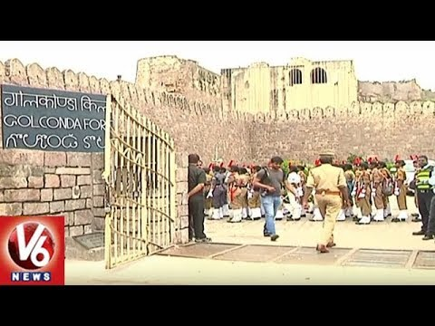 All Arrangements Set For 72nd Independence Day Celebrations At Golkonda Fort | V6 News