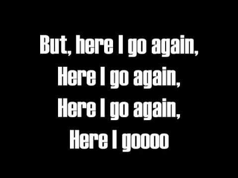Here I Go Again-lyrics-whitesnake video