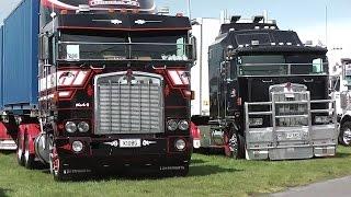 TRUCKING 2016 - Truck Show. Big Rigs! MACK, Kenworth, WHITE, International etc